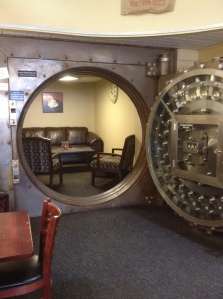 The vault in Aroma Joe's in Sanford.
