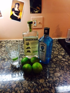 Green Hat and Bombay Sapphire
